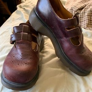 Dr marten Mary Jane burgundy shoes size 9